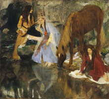 Мадемуазель Фиокр в балете «Источник» (Э. Дега, 1867-1868 гг.)