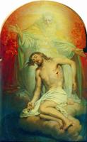 Бог-отец, созерцающий мертвого Христа