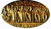 Золотой перстень-печать из Тиринфа