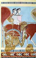 Выезд охотниц. Фреска из нового дворца Тиринфа