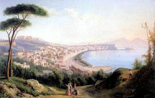 Вид на Неаполь с дороги в Позилиппо (С.Ф. Щедрин, 1829 г.)