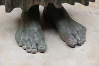 Дельфийский возничий (Фрагмент. Бронза. Около 470 г. до н.э. Дельфы. Музей)