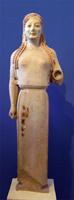 Кора в пеплосе. Около 530 до н.э. Музей Акрополя. Афины