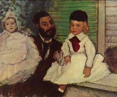 Людовик Лепик и его дочери (Э. Дега, 1871 г.)