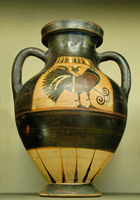 Коринфская чернофигурная амфора. Около 575—550 гг. до н.э. Лувр