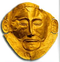 Маска Агамемнона. Из гробницы V могильного круга «А» в Микенах. Около 1500 до н.э.