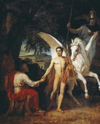 Беллерофонт отправляется в поход против Химеры (А.А. Иванов, 1829 г.)