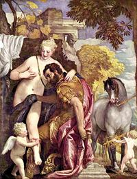 Венера и Марс, связанные Амуром (Паоло Веронезе. 2-я треть XVI в.)