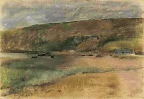 Обрыв на берегу моря (Э. Дега, 1869 г.)