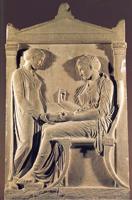 Надгробие Гегесо из Афин. Мрамор. Около 410 г. до н.э. Афины. Национальный музей