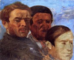 Три головы (Э. Дега, ок. 1871 г.)