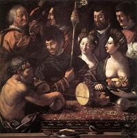 Геркулес и Омфала (Доссо Досси, ок. 1535)