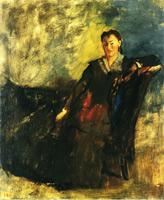 Женщина, сидящая на канапе (Э. Дега, 1868-1872 гг.)