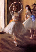 Две танцовщицы в студии (Э. Дега)