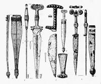 Кинжалы с ножнами поздней Гальштатской культуры
