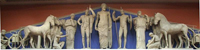 Западный фронтон храма Зевса в Олимпии (Мрамор. Музей Олимпии)