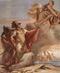Венера является Энею у берегов Карфагена (Жан Баттиста Тьеполо, 1757 г.)