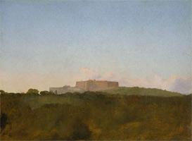 Вид на замок Сант-Эльмо с Каподимонте (Э. Дега, ок. 1856 г.)