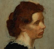 Голова женщины (Э. Дега, ок. 1873 г.)