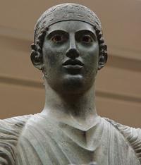 Дельфийский возничий. Фрагмент. Бронза. Около 470 г. до н.э. Дельфы. Музей