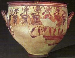 Кратер воинов (Национальный археологический музей, Афины. XIII в. до н.э.)