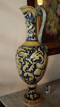Напольная ваза (Итальянская майолика, 1870г.)