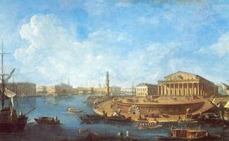 Вид на Биржу и Адмиралтейство от Петропавловской крепости (Ф.Я. Алексеев)