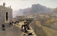 Отбитие штурма крепости Баязет 8 июня 1877 года (Л.Ф. Лагорио, 1891 г.)