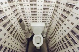 Туалет в урбанистическом стиле