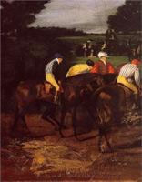 Жокеи в Эпсоме (Э. Дега, 1861-1862 гг.)