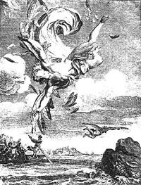 Падение Икара (гравюра XVIII века)