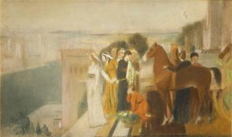Семирамида строит Вавилон (этюд композиции, Э. Дега, ок. 1860-1862 гг.)