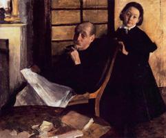 Анри Дега и его племянница Люси Дега (Э. Дега, 1875-1876 гг.)