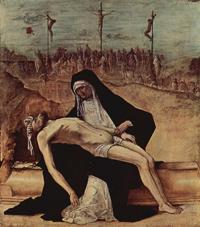 Пределла со сценами страстей Христовых. Пьета (Эрколе де Роберти, 1482)