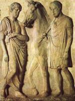 Надгробие афинского всадника.V в. до н.э.