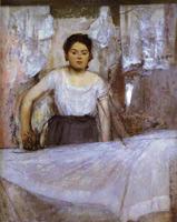 Женщина гладит (Э. Дега, 1869 г.)