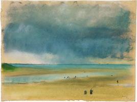 У моря (Э. Дега, 1869 г.)