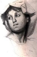 Голова римской девушки (Э. Дега, 1856 г.)