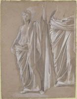 Этюд задрапированной статуи (Э. Дега)