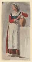 Итальянская женщина (Э. Дега)