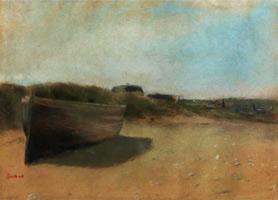 Лодка на берегу (Э. Дега, 1869 г.)