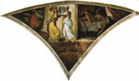 Юдифь и Олоферн (Угловая фреска свода Сикстинской капеллы)