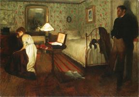 Интерьер (Насилие) (Э. Дега, 1868-1869 гг.)