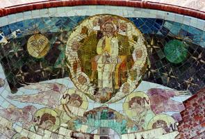 Саваоф в мандорле (Храм Воскресения Христова)