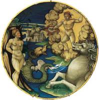 Тарелка с изображением Персея и Андромеды (Урбино, 1535–1540 г.)