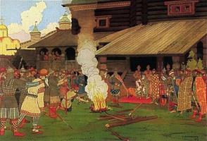 Суд во времена русской правды (Иван Яковлевич Билибин, 1907 г.)