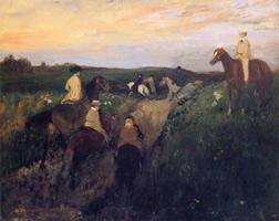 Верховая прогулка (Э. Дега, 1867-1868 гг.)