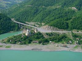 Дарьяльское ущелье. Мост через реку Терек
