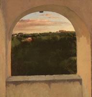 Итальянский пейзаж в окне (Э. Дега, ок. 1856-1859 г.)