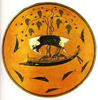 Килик Дионис в ладье (Эксекий. Около 535 г. до н.э.)